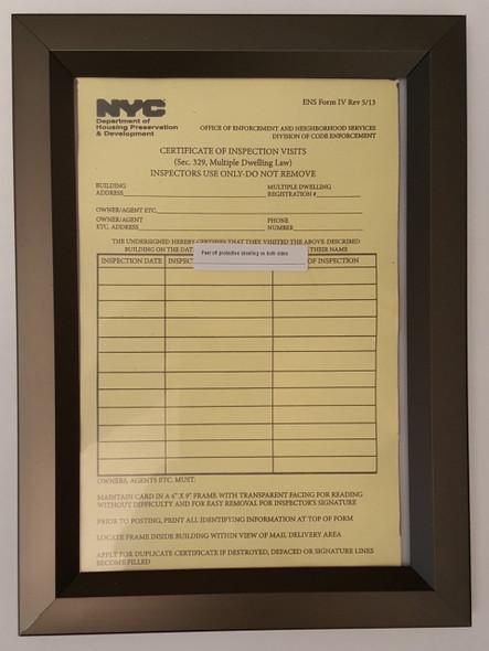 HPD Inspection Frame 6x9