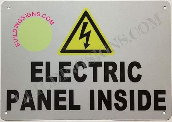 Electrical Panel Inside Sign