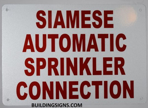 Siamese Automatic Sprinkler Connection Sign
