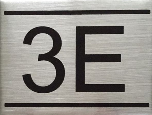 APARTMENT Number Sign  -3E