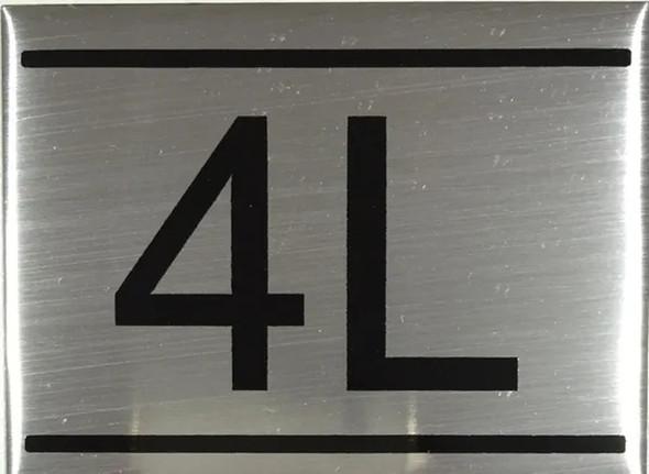 APARTMENT Number Sign  -4L