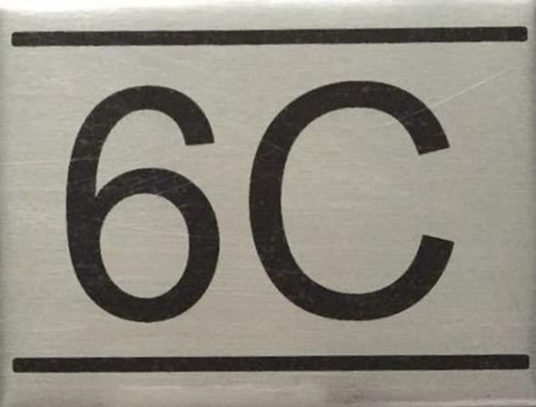 Apartment 6c sign