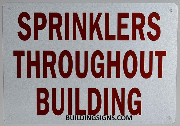 Sprinkler Throughout Building Sign