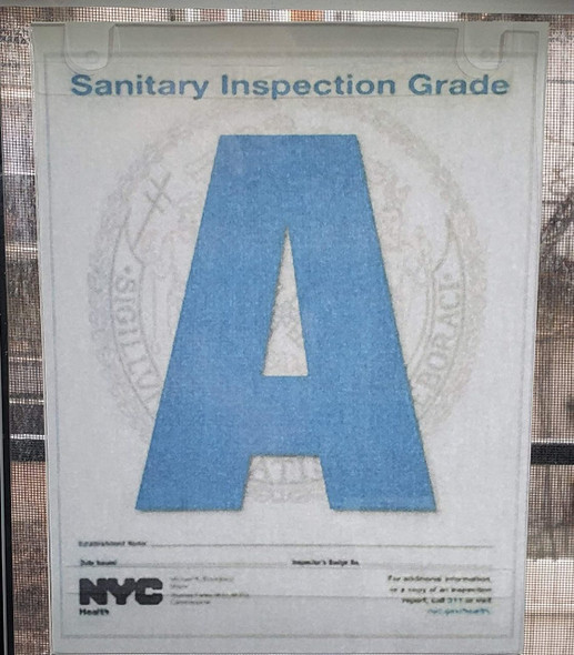 NYC Restaurant Letter Grade Frame (Size)