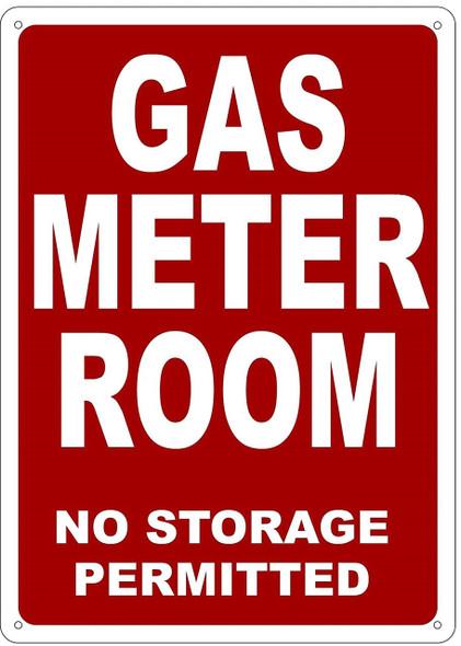 GAS METER ROOM  (RED ALUMINIUM,Reflective !!! )
