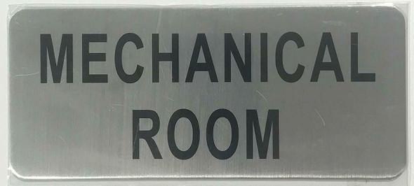 MECHANICAL ROOM SIGN (BRUSHED ALUMINUM)