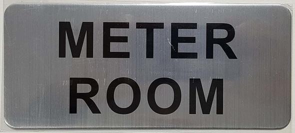 METER ROOM SIGN (BRUSH ALUMINIUM)-The Mont argent line