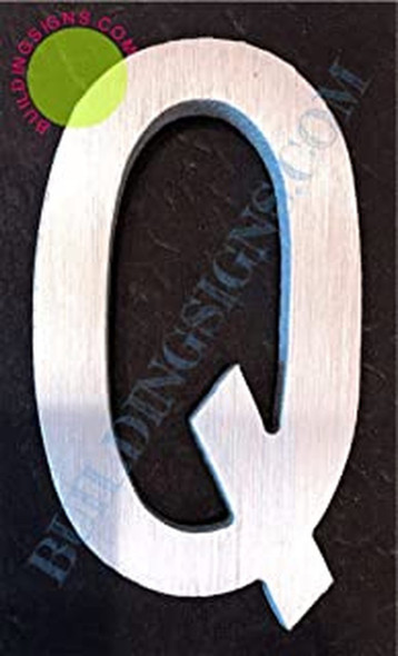 Aluminum Letter Q Sign