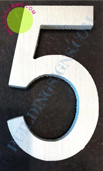 Aluminum Number Sign 5