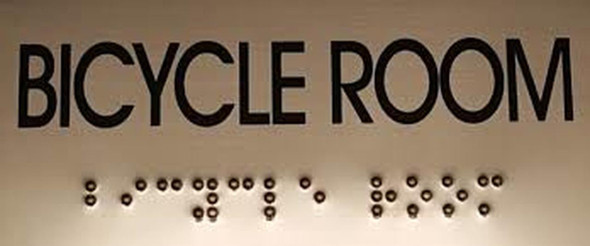 BICYCLE ROOM Sign -Tactile Signs Tactile Signs  BRAILLE-( Heavy Duty-Commercial Use ) Ada sign
