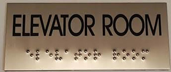 ELEVATOR ROOM Sign -Tactile Signs Tactile Signs  BRAILLE-( Heavy Duty-Commercial Use ) Ada sign