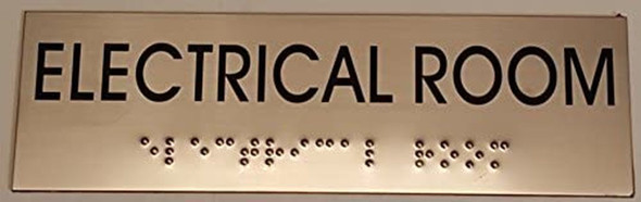 ELECTRICAL ROOM Sign -Tactile Signs Tactile Signs  BRAILLE-(Heavy Duty-Commercial Use ) Ada sign