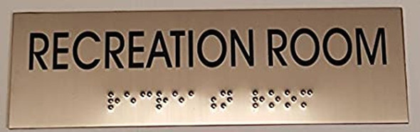 RECREATION ROOM - BRAILLE-Tactile Signs (Heavy Duty-Commercial Use ) Ada sign