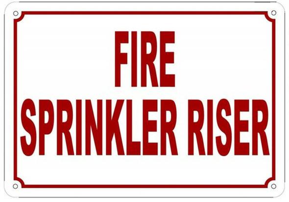 Fire Sprinkler Riser Sign