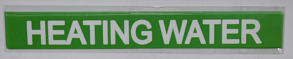 Pipe Marking- Heating Water (Sticker Green)