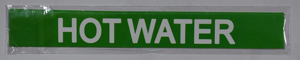 Pipe Marking- Hot Water (Sticker Green)