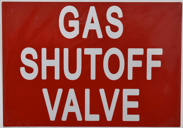 Gas Shut-Off Valve Sticker