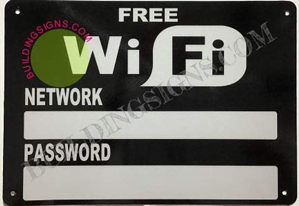 Free WiFi with Password and Network Sign