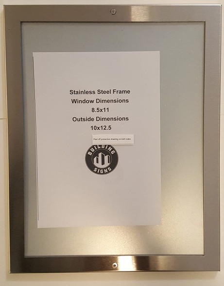 Elevator Notice frame stainless Steel