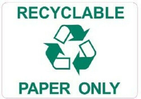 Recyclable Paper Only Sticker (Sticker)