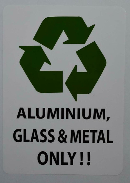 Aluminum Glass and Metal ONLY Sticker
