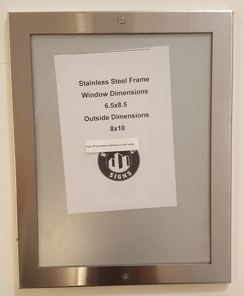 Elevator certificate frame  stainless Steel