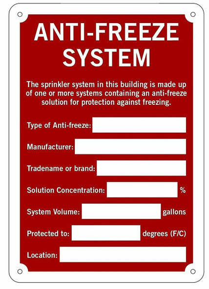 Anti-Freeze System