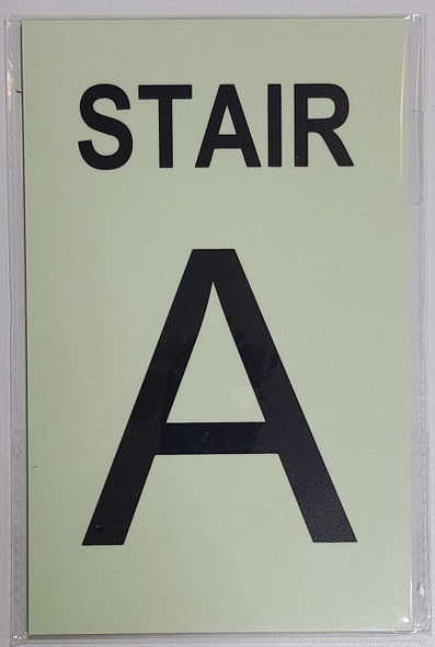 STAIR A Sign GLOW IN THE DARK