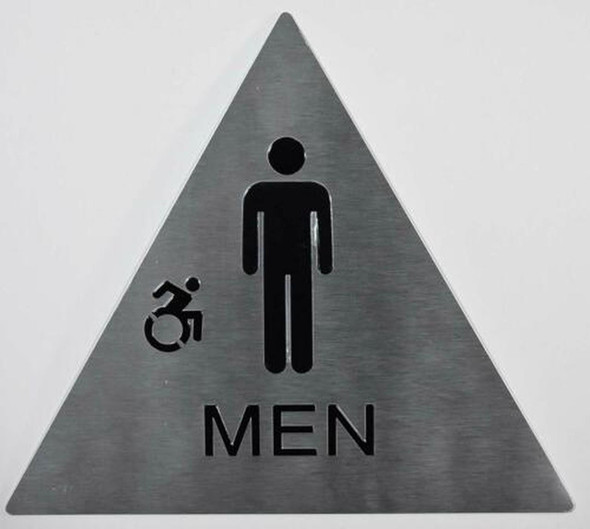 CA ADA Men Restroom accessible silver