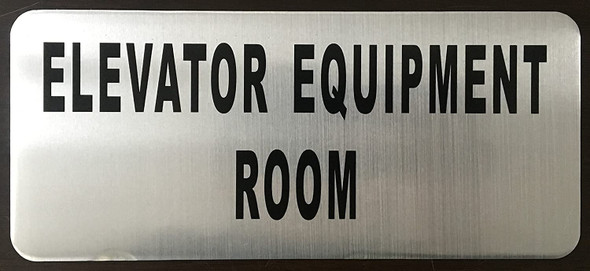 ELEVATOR EQUIPMENT ROOM SIGN-The Mont argent line