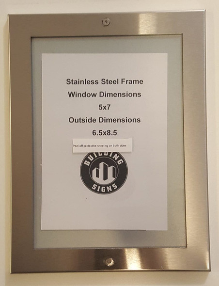 DIRECTORY FRAME  stainless Steel
