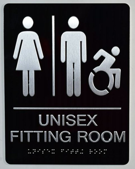 Unisex ACCESSIBLE Fitting Room Sign
