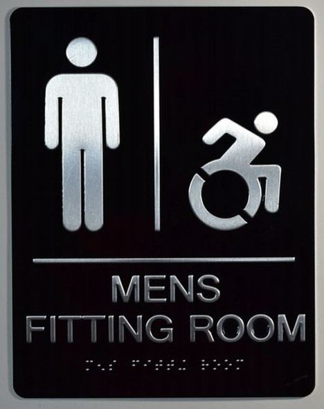 Mens accessible Fitting Room  -Tactile s Tactile s  ADA-Compliant .  -Tactile s  The Sensation line