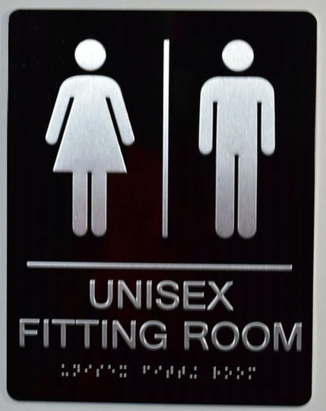 Unisex Fitting Room Sign
