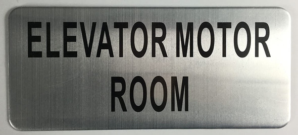 ELEVATOR MOTOR ROOM SIGN-The Mont argent line