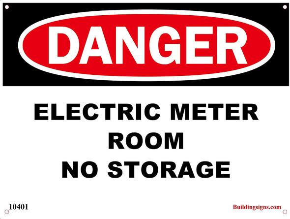 Danger Electric Meter Room - No Storage