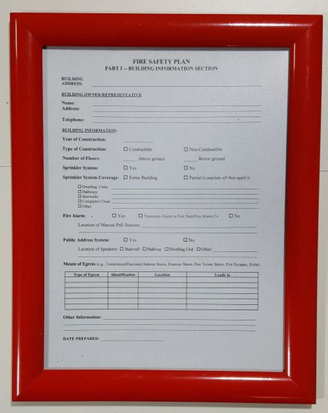 fire safety plan frame