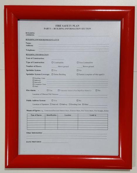fire safety plan frame