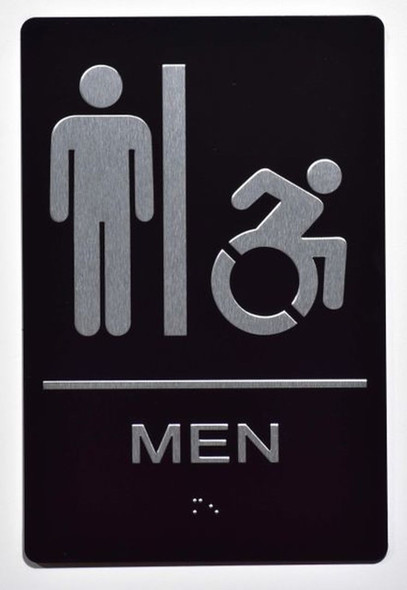 Men accessible Sign -Tactile Signs Tactile Signs  ADA-Compliant Sign.  -Tactile Signs  The Sensation line Ada sign