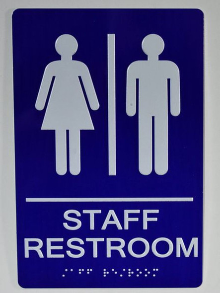 Staff Restroom - ADA Compliant Sign.  -Tactile Signs  The Sensation line Ada sign