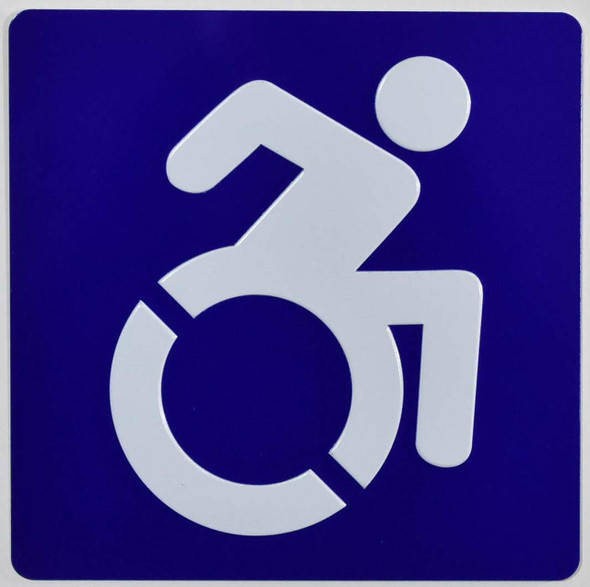 ADA-International Symbol of Accessibility (ISA) Sign Tactile Signs Ada sign
