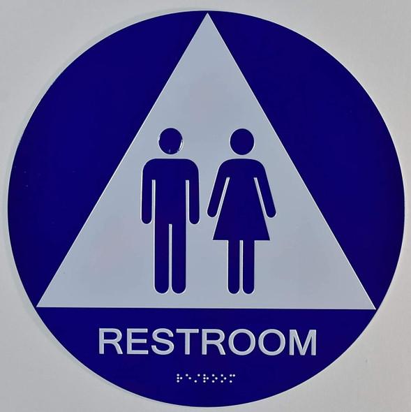 Unisex Restroom CA 128-ADA SIGN