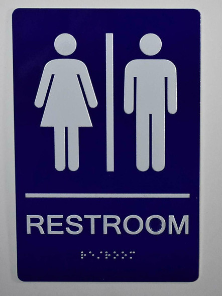 Unisex Restroom Sign  The Sensation line -Tactile Signs Ada sign