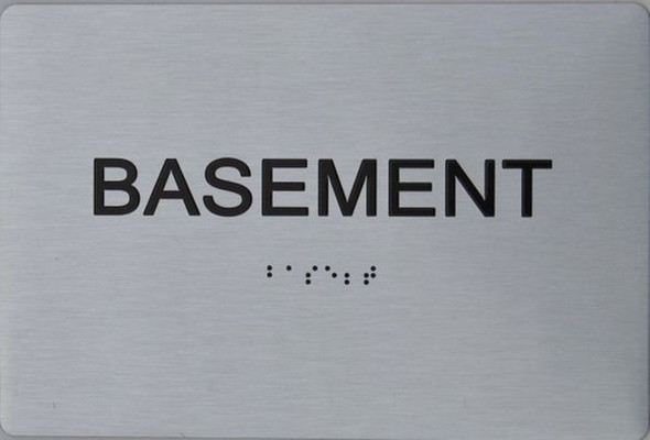 ADA Basement Floor NUMBER SIGN