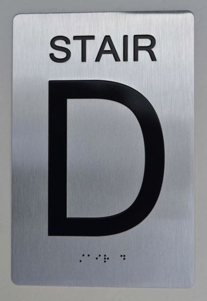 STAIR D ADA Sign -Tactile Signs The sensation line Ada sign