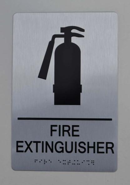 FIRE EXTINGUISHER ADA-Sign -Tactile Signs The sensation line  Ada sign
