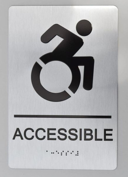ADA SILVER ACCESSIBLE SIGN
