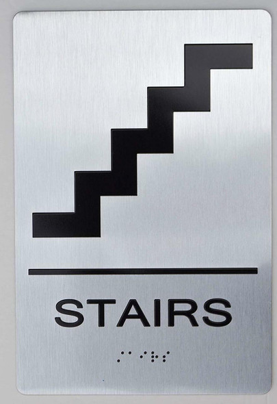 STAIRS ADA Sign -Tactile Signs The sensation line Ada sign