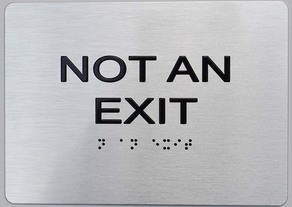 Not AN EXIT ADA Sign -Tactile Signs Tactile Signs  The sensation line  Ada sign