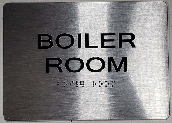 Boiler Room ADA-Sign -Tactile Signs Tactile  The Sensation line Ada sign